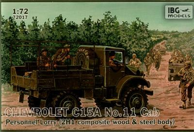 72017 - Chevrolet C.15A No.11 Cab Personnel Lorry (2H1 composite wood and steel body) 1/72