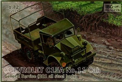 72018 - Chevrolet C.15A No.11 Cab General Service (2C1 all steel body) 1/72