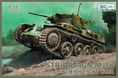 72033 -	Stridsvagn M/38 Swedish light tank 1/72