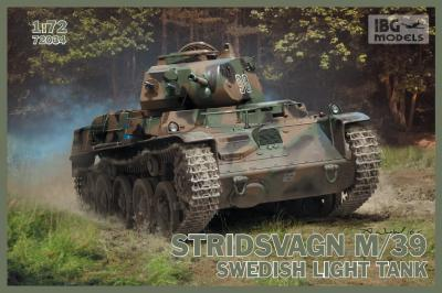 72034 - Stridsvagn M/39 Swedish light tank 1/72