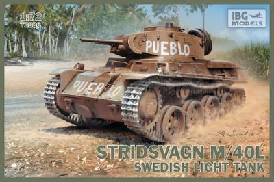 72036 - Stridsvagn M/40 L Swedish light tank 1/72