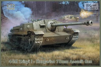 72050 - 44M Zrinyi I - Hungarian 75mm Assault Gun 1/72