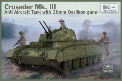 72070 - Crusader Mk.III Anti Aircraft Tank with 20mm Oerlikon Guns 1/72