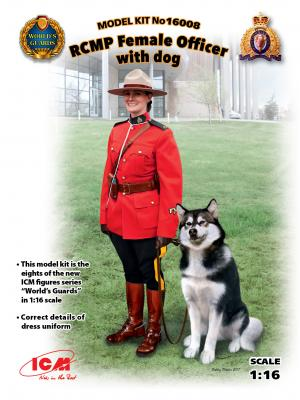 16008 - RCMP Female Officer with dog 1/16