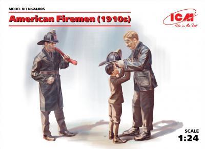 24005 - American Firemen 1910s (2 figures)