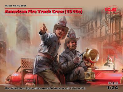 24006 - American Fire Truck Crew 1910s (2 figures)