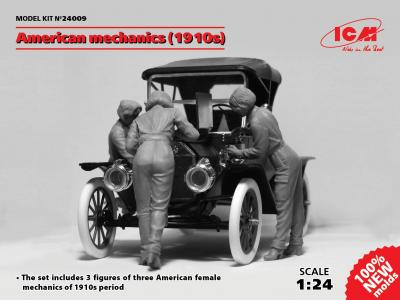 24009 - American mechanics 1910s (3 figures)