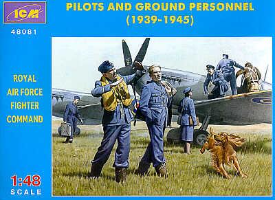 48081 - RAF Pilots and Ground Personnel 1939-1945