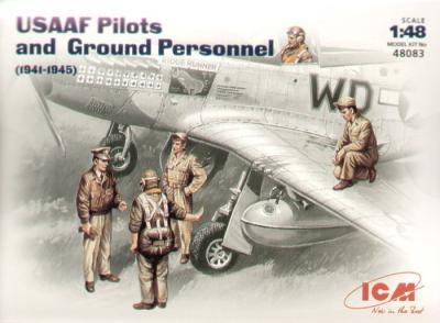 48083 - USAAF Pilots/Ground crew figures 1941/45