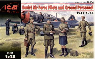 48084 - Soviet Air Force Pilots and Groundcrew