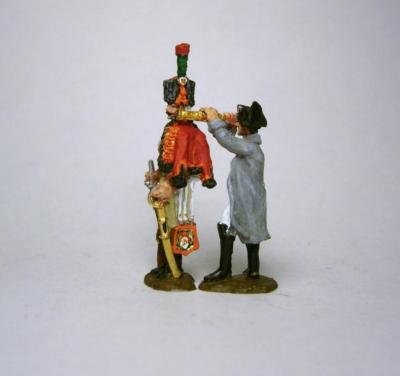 MC007 - Napoleon with telescope and  Mounted Guard Chasseur 1/72