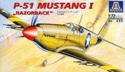 0090 - North-American P-51 Mustang I Razorback 1/72