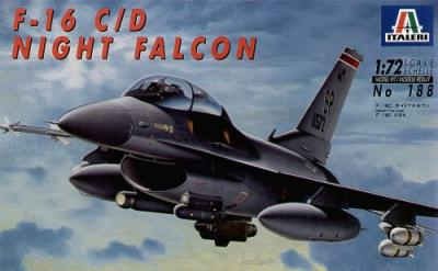 0188 - Lockheed-Martin F-16C / F-16D Fighting Falcon Night Falcon 1/72