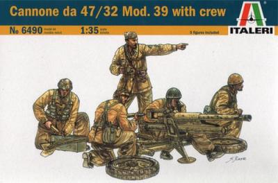 6490 - Canone 47/32 Anti-Tank Gun and crew figures