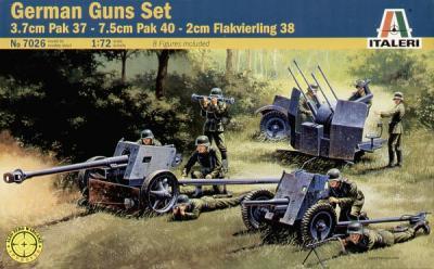 7026 - 3.7 PaK-37/7.5cm PaK-40/20mm Flakvierling 38 1/72