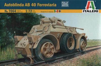 7064 - Autoblinda AB 40 Ferroviaria 1/72