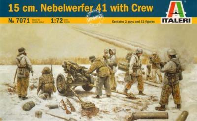 7071 - 15 cm. Nebelwerfer 41 with Crew 1/72