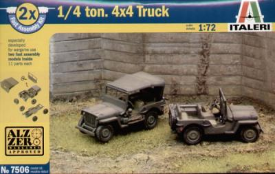 7506 - Willy's Jeep Pack  1/72