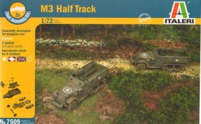 7509 - M3A1 Half Track (2 kits) 1/72