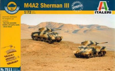 7511 - M4A2 Sherman III (2) 1/72