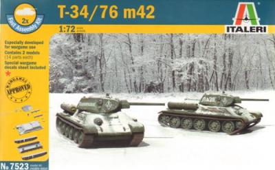 7523 - Russian T-34/76m42 (x2) 1/72