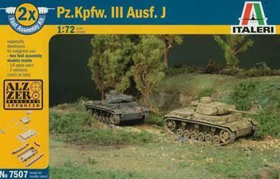 7507 - German PZ.KPFW III Ausf J Tank 1/72