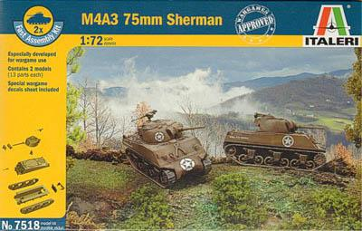 7518 - Allied M4A3 Sherman Tank 1/72