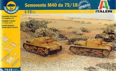 7519 - Semovente M40 DA 75/18 SP Gun 1/72