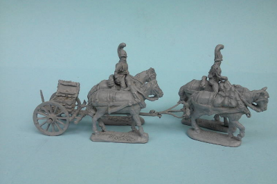 JS72-0796 Train Artillerie cheval Russe Garde 1/72