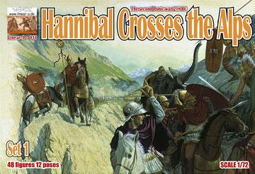 011 - Hannibal Crosses the Alps Set 1 1/72