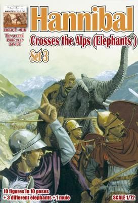 016 - Hannibal crosses the Alps Set 3 (Elephants) 1/72