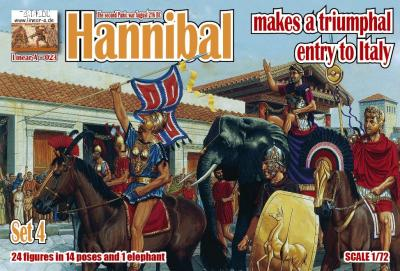 023 - Hannibal makes a triumphal entry to Italy Set 4 1/72