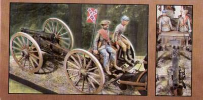 70349 - Confederate American Civil War/ACW Horse Drawn Field Artillery 1/16