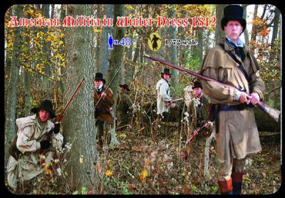 M098 - American Militia in Winter Dress 1812 1/72