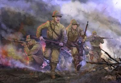 M128 - Imperial Japanese Army in Attack (WWII) 1/72