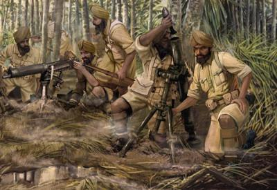 M129 - Indian Infantry Heavy Weapons (WWII)1/72
