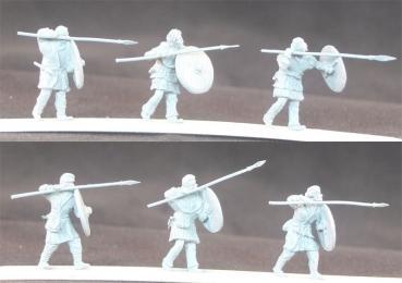 ma-sax-009 Anglo Saxon avec lances et boucliers 1/72