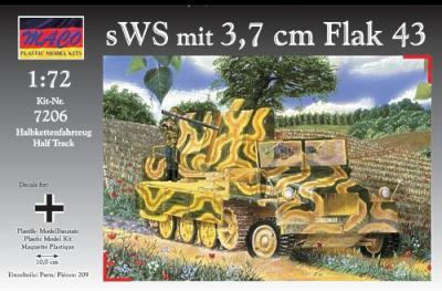 7206 - sWS with 3.7cm Flak 43 1/72