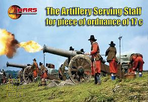 72023 - Artillery Serving Staff for Piece of Ordonance 17C 1/72