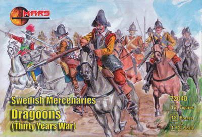 72040 - Thirty Years War Swedish Mercenary Dragoons 1/72
