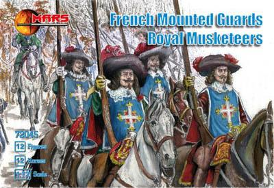 72045 - French Mounted Guards Royal Musketeers 1/72