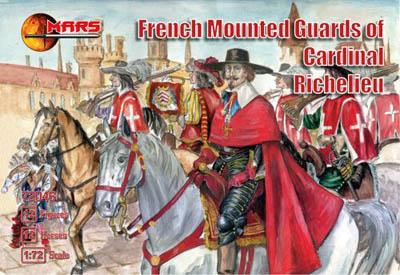 72046 - French Mounted Guards of Cardinal Richelieu 1/72