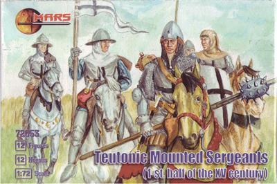 72053 - Teutonic Mounted Sergeants 1/72