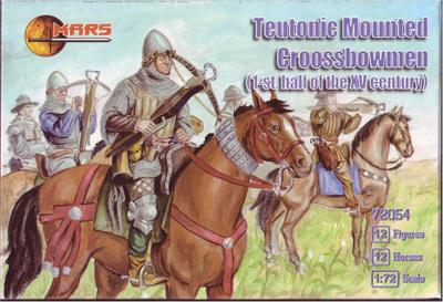 72054 - Teutonic Mounted Crossbowmen 1/72