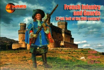72083 - Royal French infantry and guards 2 half of the 17th century 1/72