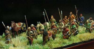 MA-001 - Armée Médiévale en marche époque 1/72