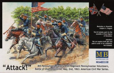 3550 - U.S. Civil War Series The Attack of the 8th Pennsylvania Cavalry