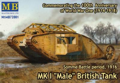 72001 - Mk.I Male British Tank. Somme 1916 1/72