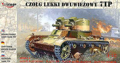 72602 - Polish 7TP light tank with two turrets 1/72