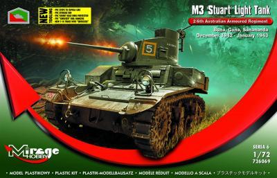 726069 - M3 'Stuart' Light Tank 2/6th Australian Armoured Regiment 1/72